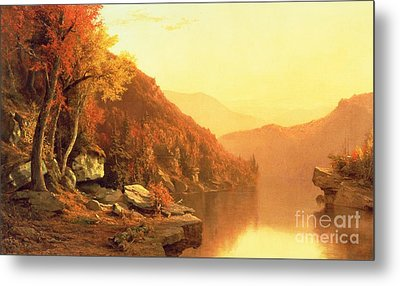 Shawanagunk Mountains Metal Print by Jervis McEntee