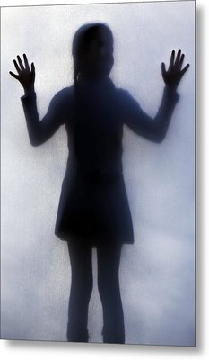 Silhouette Of A Girl Metal Print by Joana Kruse