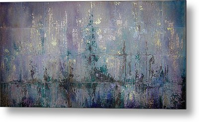 Silver And Silent Metal Print by Shadia Zayed