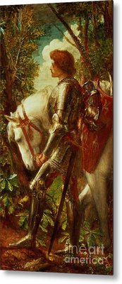 Sir Galahad Metal Print by George Frederic Watts