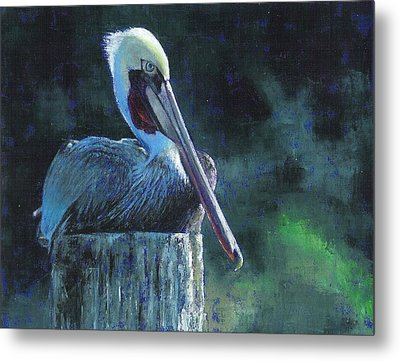 Sitting On The St Marks Metal Print by Pam Talley