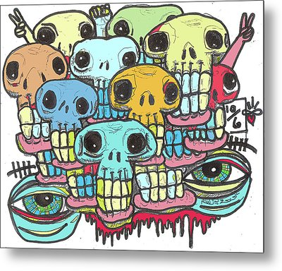 Skullz Metal Print by Robert Wolverton Jr