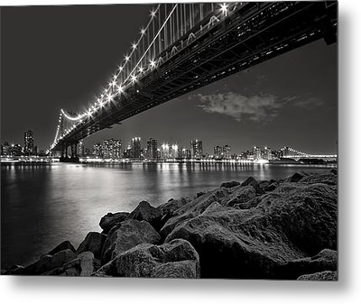 Sleepless Nights And City Lights Metal Print by Evelina Kremsdorf