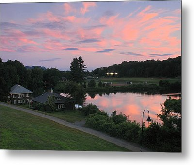 Smith College Paradise Pond Sunset Metal Print by John Burk