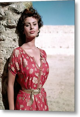 Sophia Loren, 1950s Metal Print by Everett