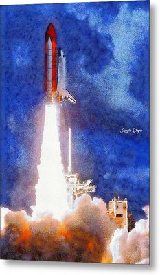 Space Shuttle - Pa Metal Print by Leonardo Digenio