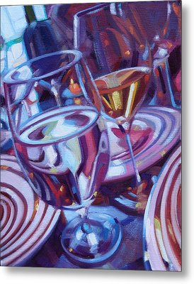 Spinning Plates Metal Print by Penelope Moore