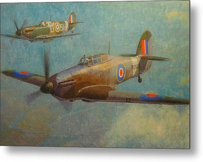 Spit And Hurri Metal Print by Terry Perham