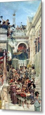 Spring Metal Print by Sir Lawrence Alma-Tadema