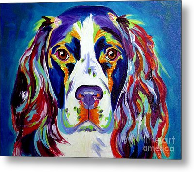 Springer Spaniel - Cassie Metal Print by Alicia VanNoy Call