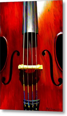 Stand Up Bass Metal Print by Bill Cannon