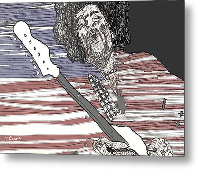 Star Spangled Banner Metal Print by David Fossaceca