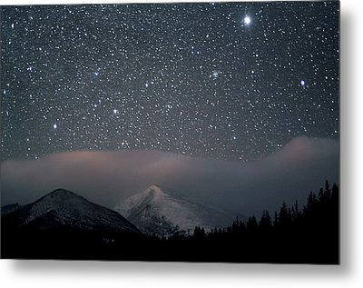 Stars Over Rocky Mountain National Park Metal Print by Pat Gaines