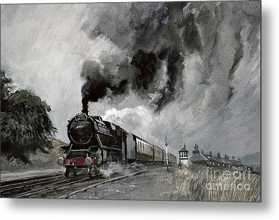 Steam Train At Garsdale - Cumbria Metal Print by John Cooke