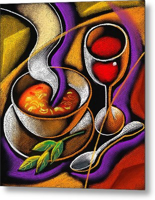Steaming Supper Metal Print by Leon Zernitsky