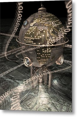Steampunk Data Hub Metal Print by Keith Kapple
