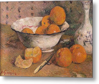 Still Life With Oranges Metal Print by Paul Gauguin