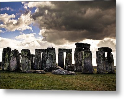 Stonehenge After The Storm Metal Print by Justin Albrecht