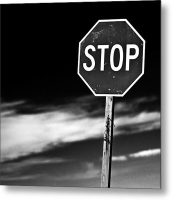Stop Metal Print by James Bull