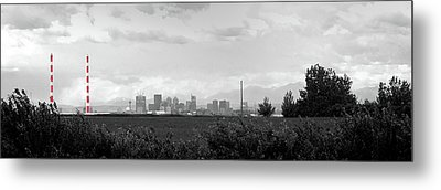 Stormy Day Calgary Cityscape Metal Print by Lisa Knechtel