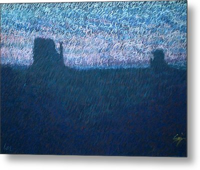 Sunrise In Monument Valley Metal Print by Suzie Majikol Maier