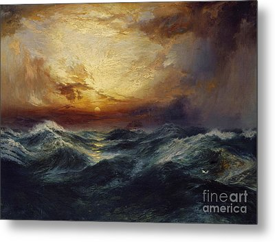 Sunset After A Storm Metal Print by Thomas Moran