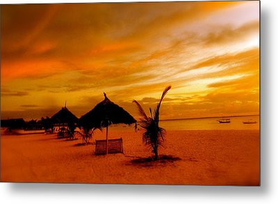 Sunset In Zanzibar Metal Print by Joe  Burns