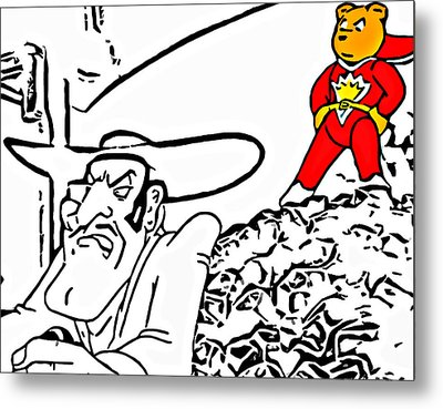 Superted And Texas Pete Metal Print by Rpics Rpics