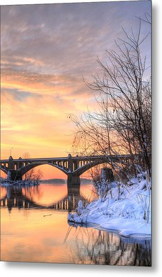 Susquehanna Sunrise Metal Print by JC Findley