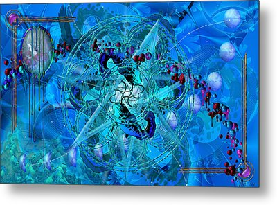Symagery 34 Metal Print by Kenneth Armand Johnson