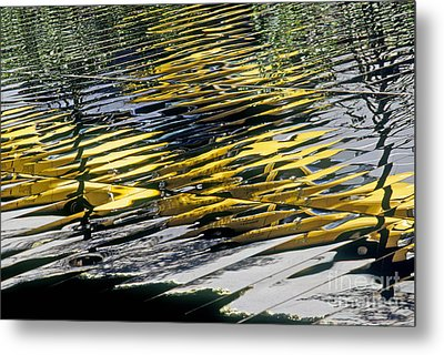 Taxi Abstract Metal Print by Tony Cordoza