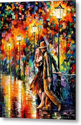 Tempter Metal Print by Leonid Afremov