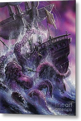 Terror From The Deep Metal Print by Oliver Frey