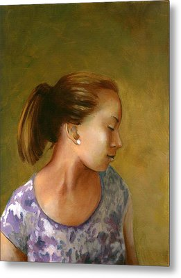 Tessa Metal Print by Mary C Haneline