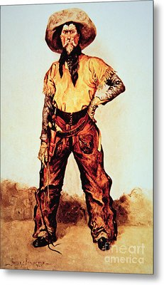 Texas Cowboy Metal Print by Frederic Remington
