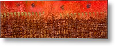 That Long Brown Fence Dividing You And Me Metal Print by Angela L Walker