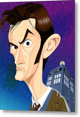 The 10th Doctor Metal Print by Kevin Greene