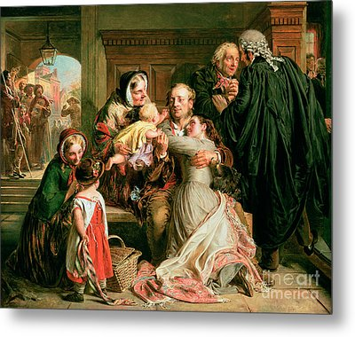 The Acquittal Metal Print by Abraham Solomon
