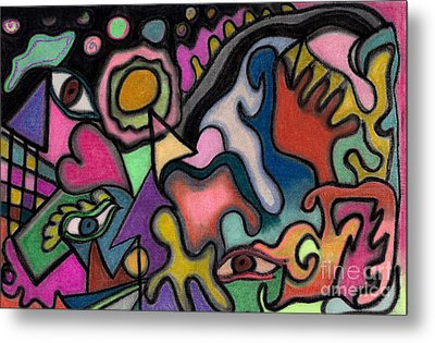 The Angry Eye Metal Print by Christine Perry