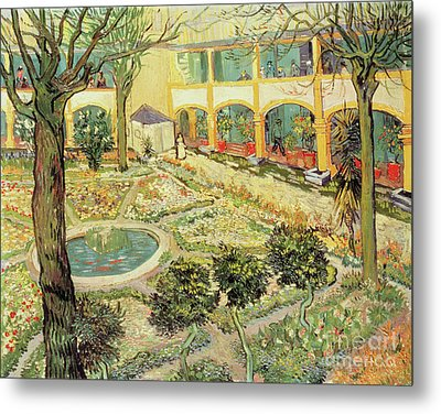 The Asylum Garden At Arles Metal Print by Vincent van Gogh