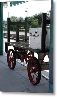 The Baggage Cart And Truck Metal Print by Rob Hans