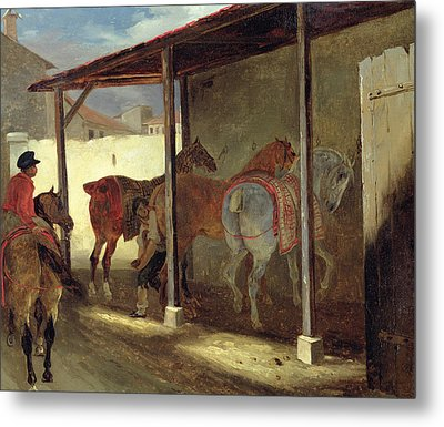The Barn Of Marechal-ferrant Metal Print by Theodore Gericault