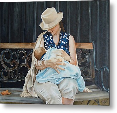 The Bench Metal Print by Daniela Easter