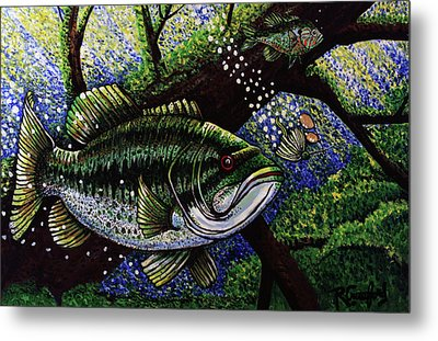 The Big Bass Metal Print by Bob Crawford
