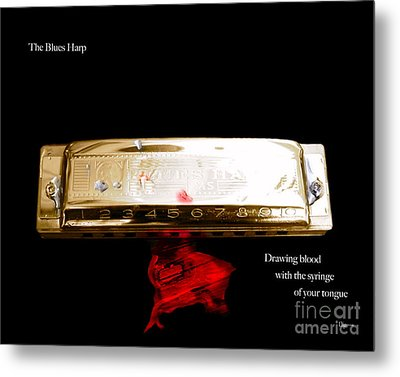 The Blues Harp Metal Print by Steven  Digman
