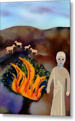 The Burning Bush Metal Print by Sher Magins