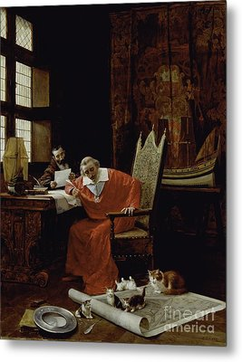The Cardinal's Leisure  Metal Print by Charles Edouard Delort