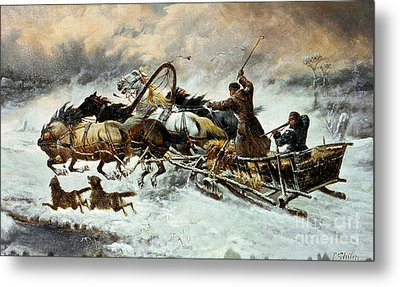 The Chase Metal Print by Constantine Stoiloff