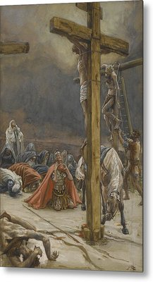 The Confession Of Saint Longinus Metal Print by Tissot