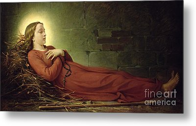 The Death Of Germaine Cousin The Virgin Of Pibrac Metal Print by Alexandre Grellet